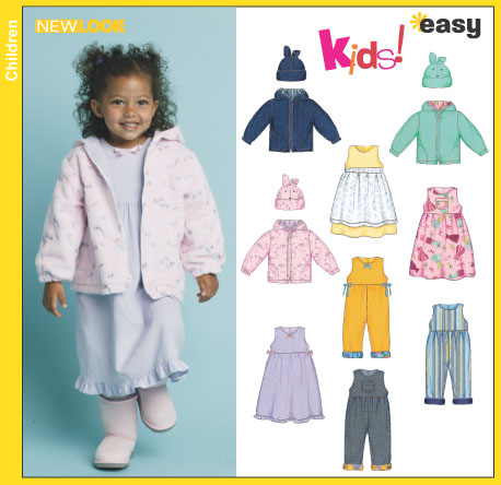 New Look Toddlers' Jacket, Dress or Jumper, Romper and Hat 6419