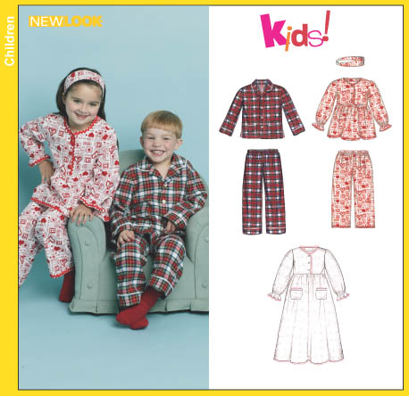 New Look Child's Pajamas, Nightgown and Headband 6421