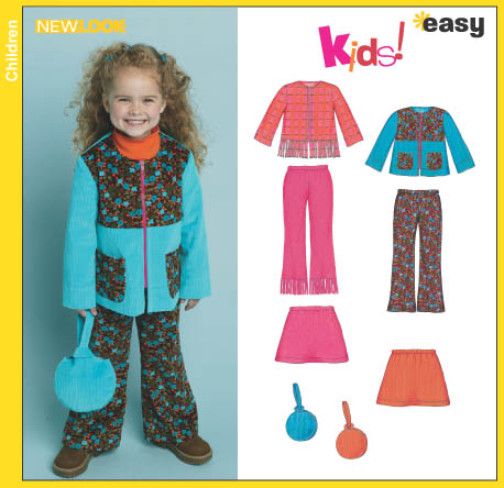 New Look Child's Pants, Skirt, Jackets and Purse 6423