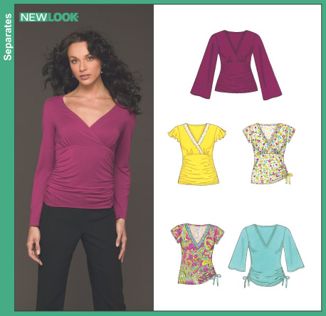 New Look Misses' Knit Tops 6430