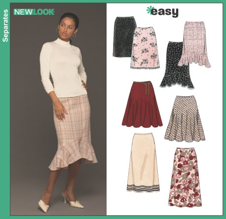 New Look Misses' Skirts 6433