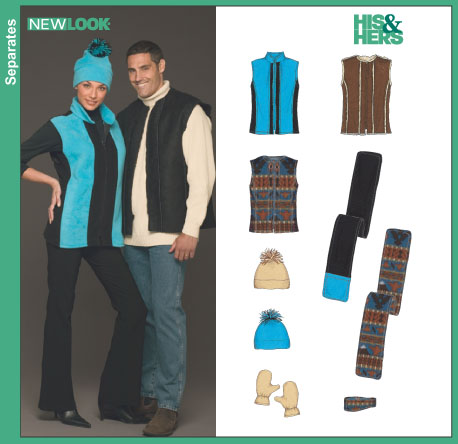 New Look Misses', Men's and Teens' Vest, Hat, Scarf, Headband and Mittens 6440