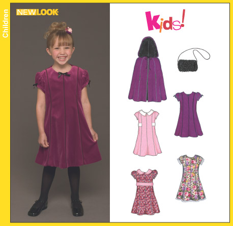 New Look Child's Dress, Cape and Purse 6451