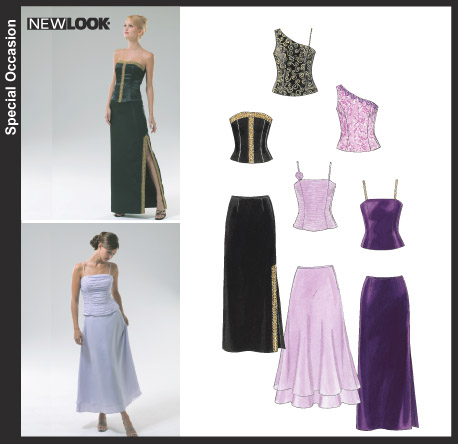 New Look Misses' Evening Tops and Skirts 6456
