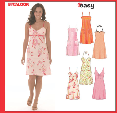 New Look Misses' Dress With Bodice Variations 6459