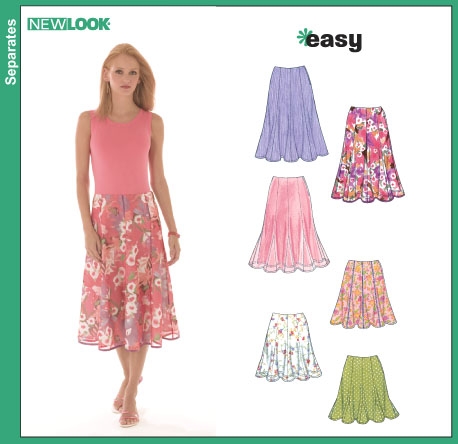 New Look Misses' Skirts in Two Lengths 6461