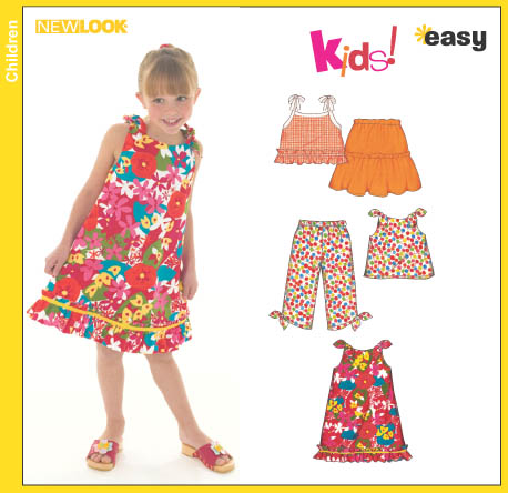New Look Child's Dress or Top, Skirt and Capri Pants 6476