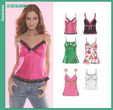 New Look Misses Lingerie Style Tops 6490