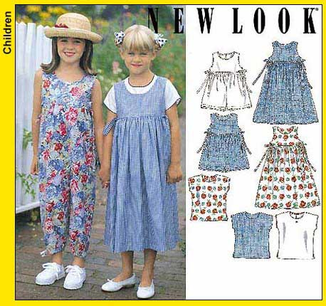New Look Childs Dress or Jumper, Romper in Long or Short Length and Top 6493