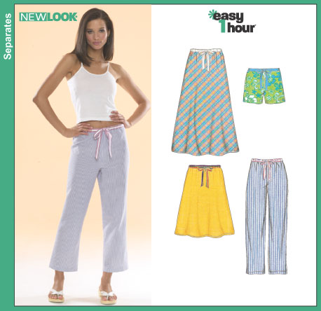 New Look Misses Capri Pants, Shorts and Bias Skirts 6494