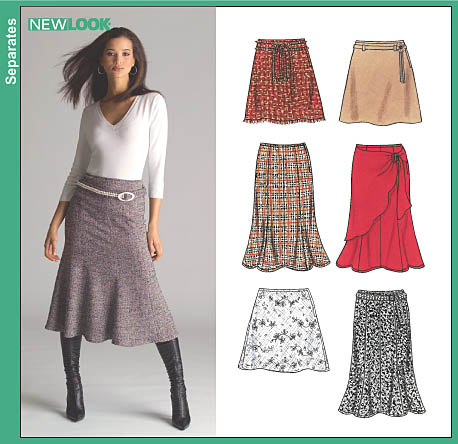 New Look Misses Skirt and Lined Skirt 6509