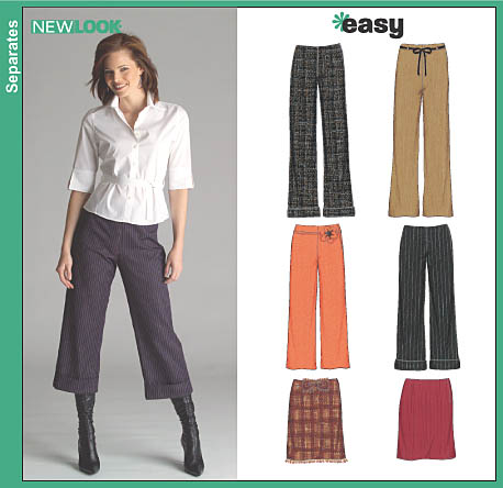 New Look Misses Pants in Two Lengths and Skirt 6510