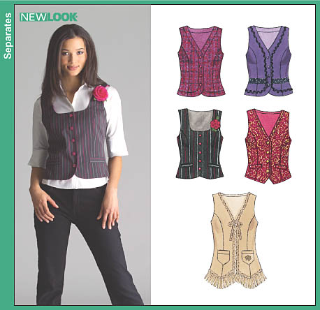 New Look Misses Lined Vests 6514