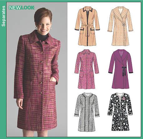 New Look Misses Lined Coats 6518