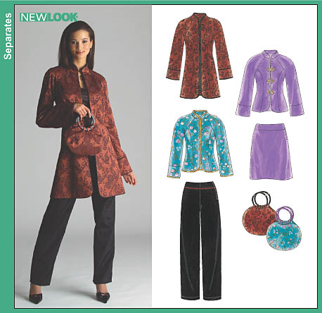 New Look Misses Skirt, Pants, Purse and Lined Jacket in Two Lengths 6519