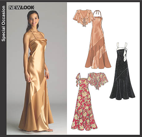 New Look Misses Bias Evening Gowns and Capelet 6531
