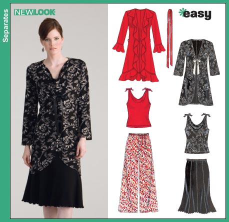 New Look Misses Shirts, Wrap Skirts and Knit Tops 6628