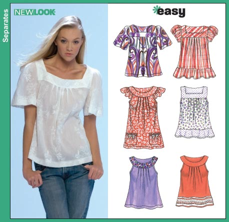New Look Misses Jacket, Tops, Pants and Skirt 6705