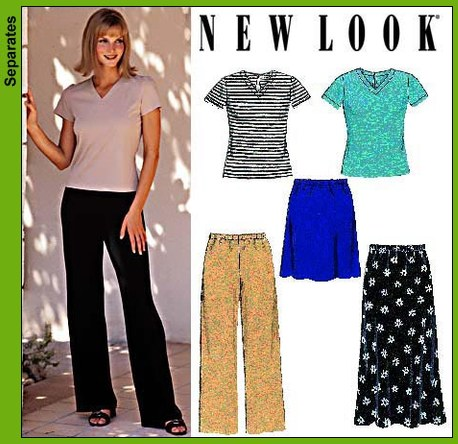New Look Misses Knit Tops, Skirts, and Pants 6730