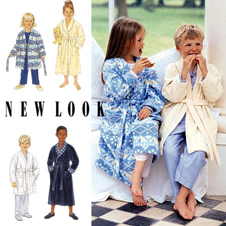 New Look Unisex Childs Robe in Long or Short Length 6821OOP