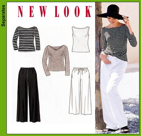 New Look Misses Pants and Knit Tops 6838