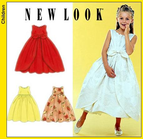 New Look Childs Sleeveless Dress and Overskirt 6955OOP