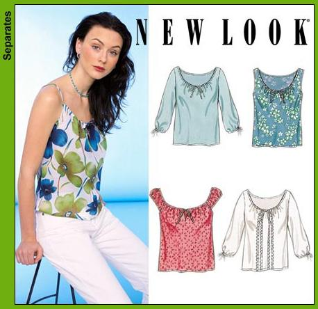 New Look Misses Tops 6976