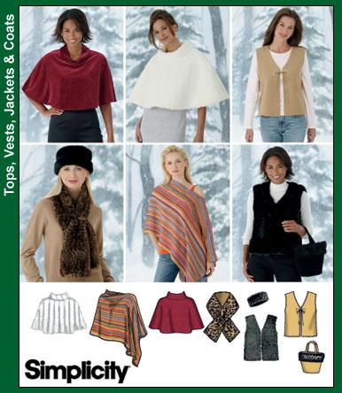 Simplicity ponchos, vests, misc. access. 4781