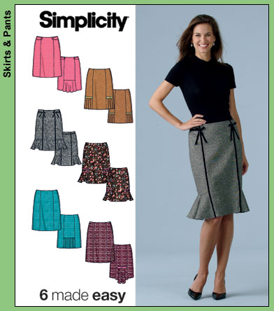 Simplicity 6 Skirts Made Easy 4787