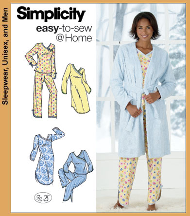 Simplicity PJs, nightgown and Robe 4796