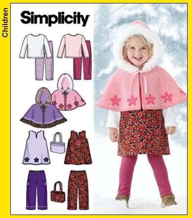 Simplicity pants,tops,capelet,jumper,bag 4809