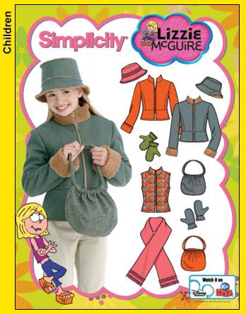 Simplicity Lizzie McGuire jacket/hat 4818