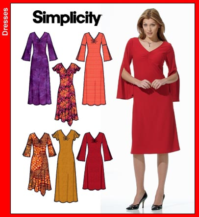 Simplicity Pullover Knit Dress-2 lengths 4877