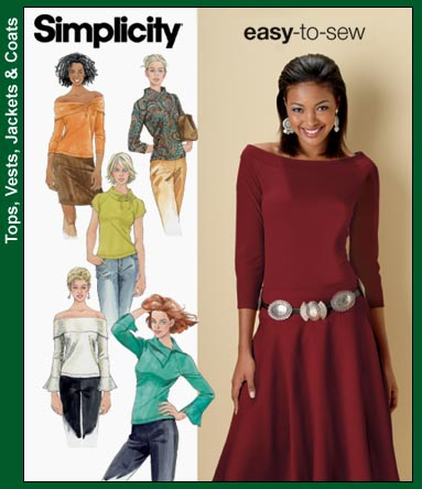 Simplicity Raglan sleeve knit tops 4878