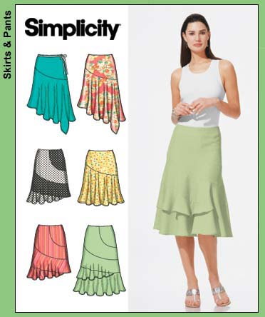 Simplicity 6 made easy skirts 5005