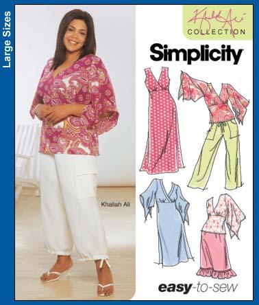 Simplicity Khaliah Ali easy-to-sew 5074