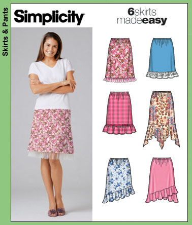 Simplicity 6 Skirts Made Easy 5100