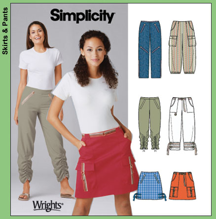 Simplicity pants and skirt w/ zippers 5102