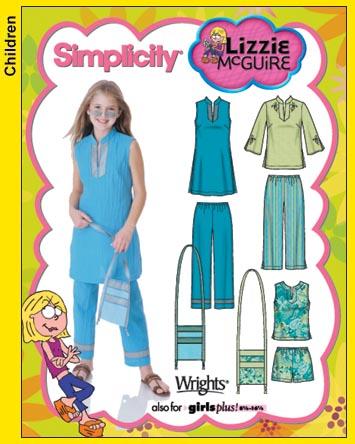 Simplicity Lizzie Mcguire Tunic, pants, 5122