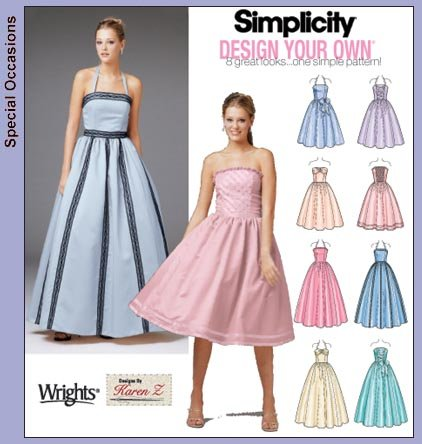 Simplicity Missy Dress/2 Lgths/Bodice Var 5185