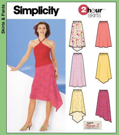 Simplicity misses pull-on skirts 5505