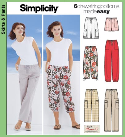Simplicity drawstring bottoms 5562