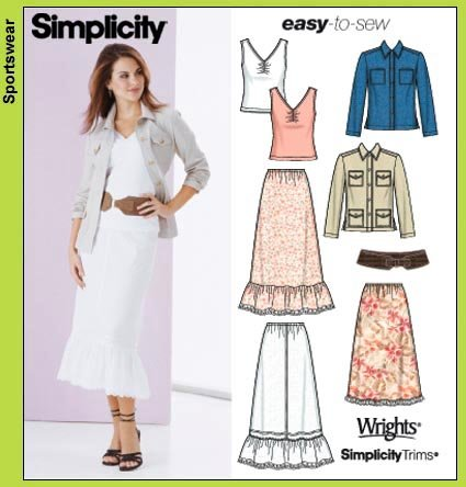 Simplicity Pull on skirt 5593