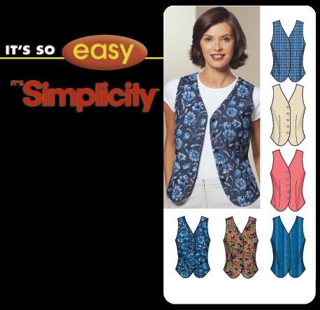 Simplicity It's So Easy vest 5640
