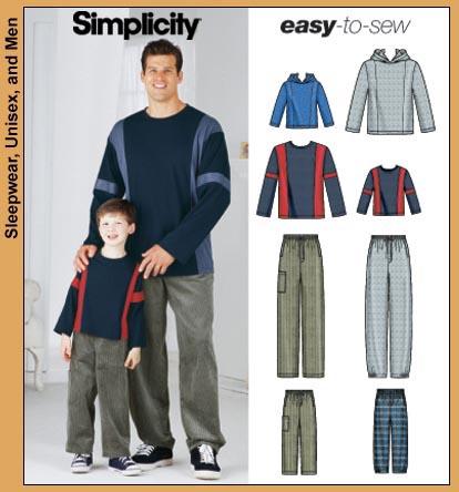 Simplicity Boys' & Mens' top & pants 5779