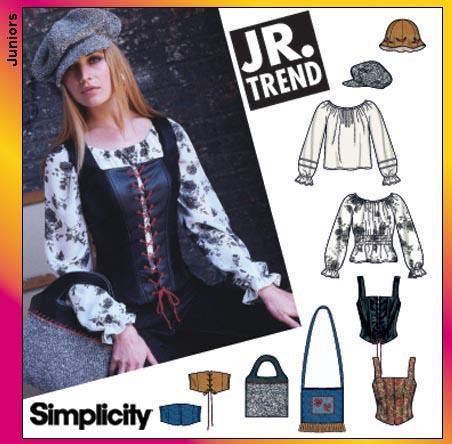 Simplicity Jr peasant top and assessories 5799