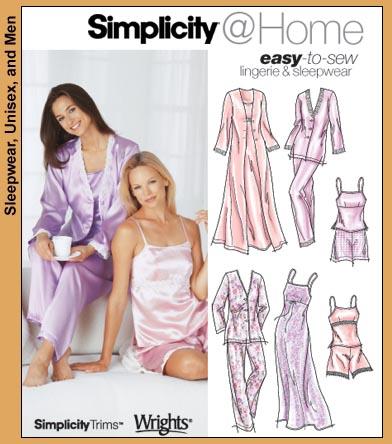 Simplicity PJ ensemble, robe, bed jacket 5933
