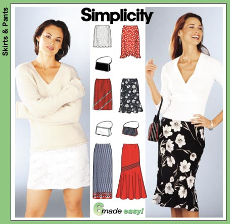 Simplicity 6 skirts made easy 7097