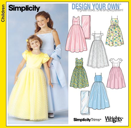 Simplicity GIRLS DRESS 7113