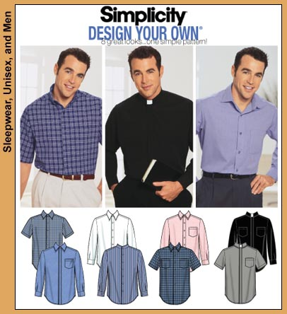 Simplicity Men's Shirts-8 looks 7187